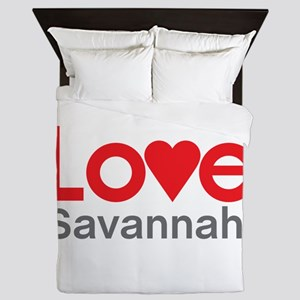I Love Savannah Queen Duvet