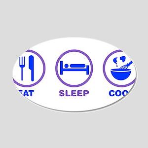 Eat Sleep Cook Wall Decal