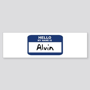 Hello: Alvin Bumper Sticker