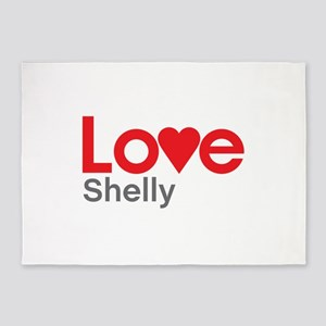 I Love Shelly 5'x7'Area Rug