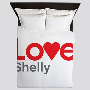 I Love Shelly Queen Duvet