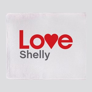 I Love Shelly Throw Blanket