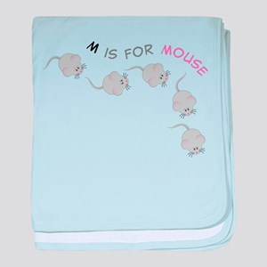 Mouse baby blanket