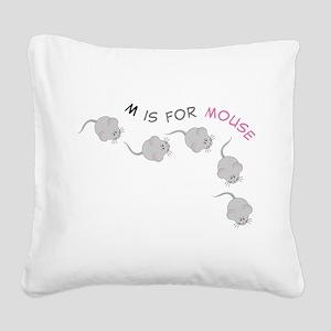 Mouse Square Canvas Pillow