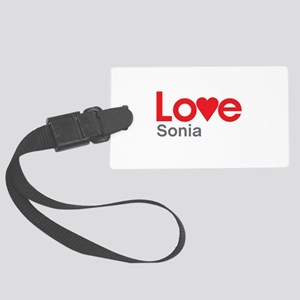 I Love Sonia Luggage Tag