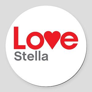 I Love Stella Round Car Magnet