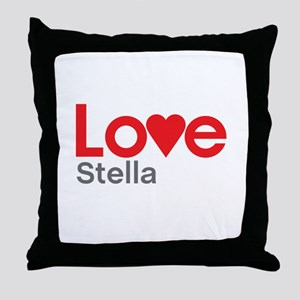 I Love Stella Throw Pillow