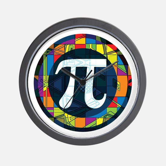 Pi Symbol 2 Wall Clock