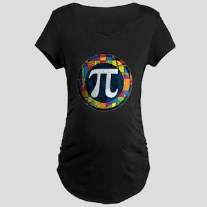 Pi Symbol 2 Maternity Dark T-Shirt