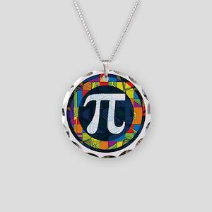 Pi Symbol 2 Necklace Circle Charm