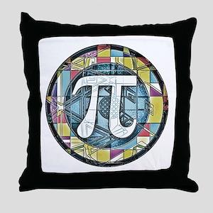 Pi Symbol 3 Throw Pillow
