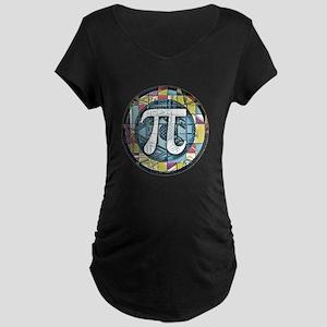 Pi Symbol 3 Maternity Dark T-Shirt