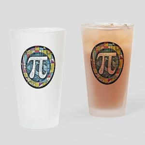 Pi Symbol 3 Drinking Glass