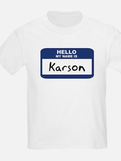 Hello: Karson Kids T-Shirt