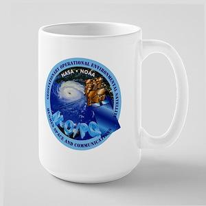 GOES Hughes Logo 15 oz Ceramic Large Mug