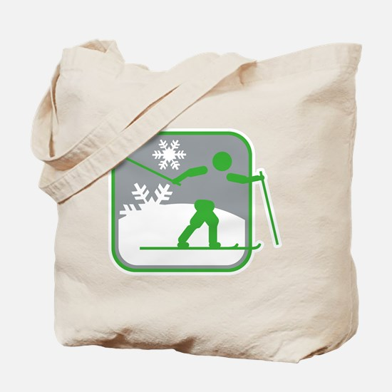 skilanglauf symbol Tote Bag