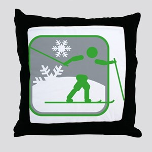 skilanglauf symbol Throw Pillow