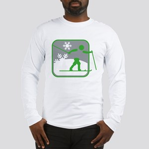 skilanglauf symbol Long Sleeve T-Shirt
