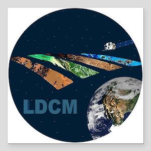 "LANDSAT: LDCM Square Car Magnet 3"" x 3"""