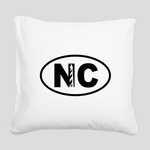 North Carolina Lighthouse Square Canvas Pillow