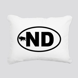 North Dakota Bison Rectangular Canvas Pillow