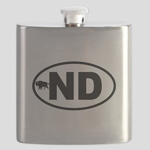 North Dakota Bison Flask