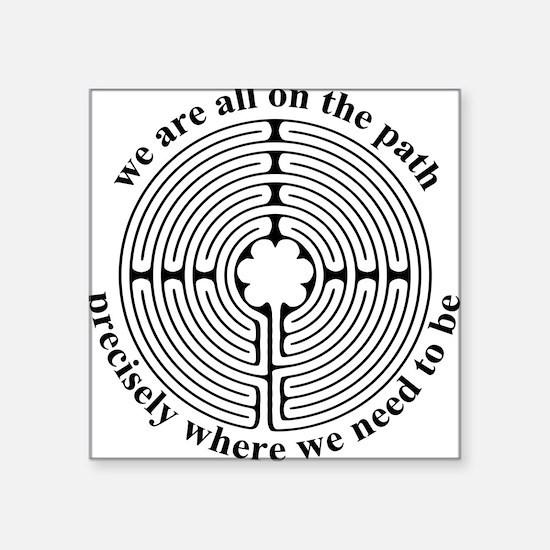 Labyrinth Oval Sticker
