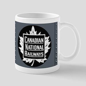 Vintage Train Locomotive Panel Mug