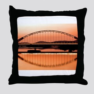 Calatrava's bridge in Merida Throw Pillow