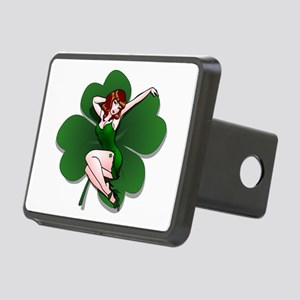 St. Patrick's Pin-Up Girl Lucky Shirts Hitch Cover