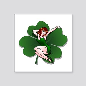 St. Patrick's Pin-Up Girl Lucky Shirts Sticker