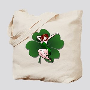 St. Patrick's Pin-Up Girl Lucky Shirts Tote Bag