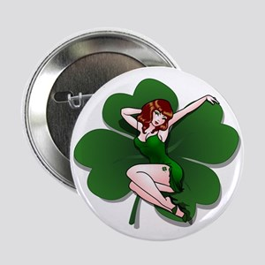"St. Patrick's Pin-Up Girl Lucky Shirts 2.25"" Butto"