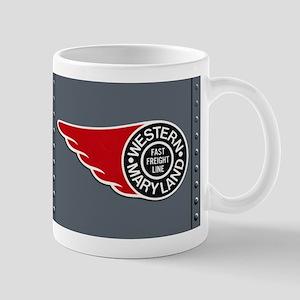 Vintage Locomotive Panel Coffee Mug