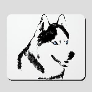 Husky Malamute Sled Dog Art Mousepad
