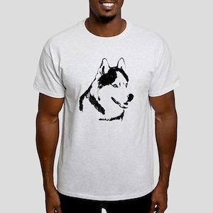 Husky Malamute Sled Dog Art Light T-Shirt