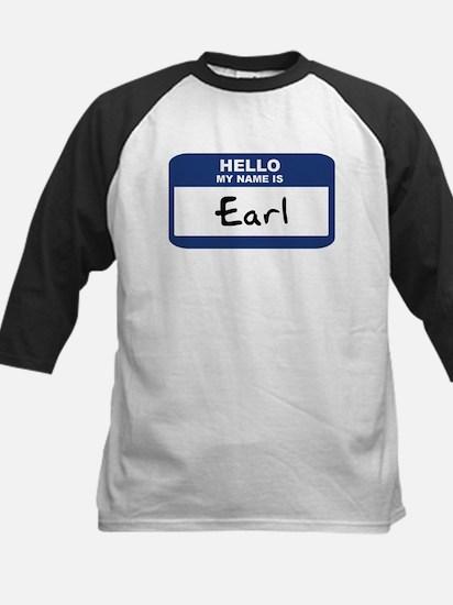 Hello: Earl Kids Baseball Jersey