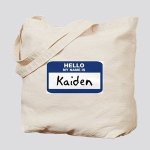 Hello: Kaiden Tote Bag