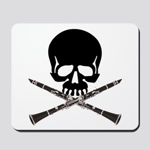 Skull with Clarinets Mousepad
