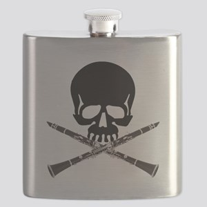 Skull with Clarinets Flask