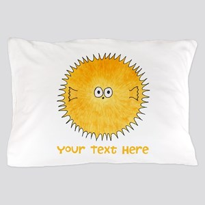 Pufferfish. Add Your Text. Pillow Case