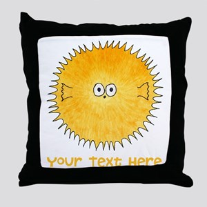 Pufferfish. Add Your Text. Throw Pillow