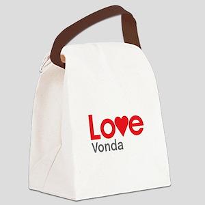 I Love Vonda Canvas Lunch Bag