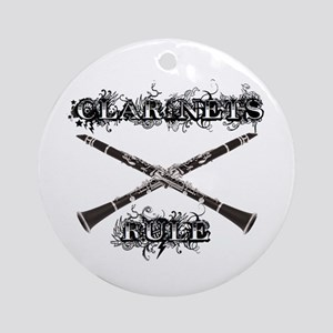Clarinets Rule Ornament (Round)