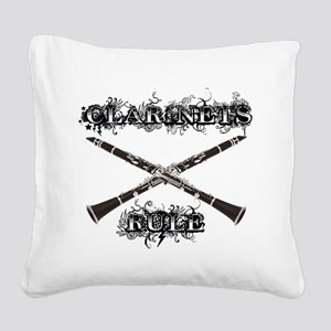 Clarinets Rule Square Canvas Pillow