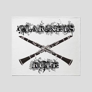 Clarinets Rule Throw Blanket