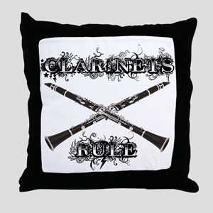 Clarinets Rule Throw Pillow