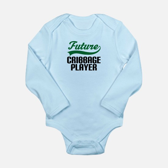 Future Cribbage Player Long Sleeve Infant Bodysuit