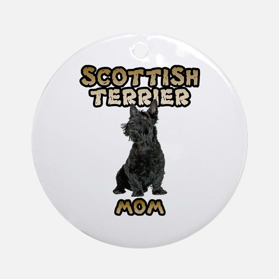 Scottish Terrier Mom Ornament (Round)