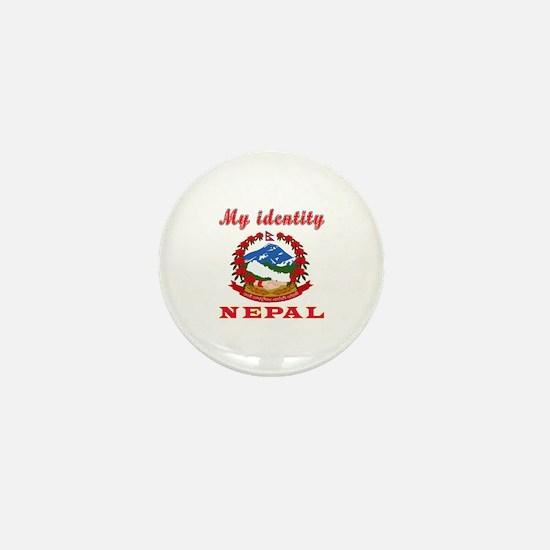 My Identity Nepal Mini Button